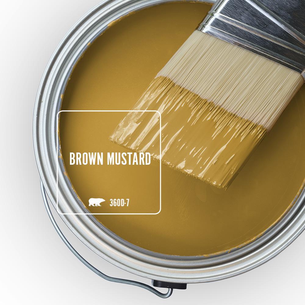 Behr 'Brown Mustard' via Home Depot