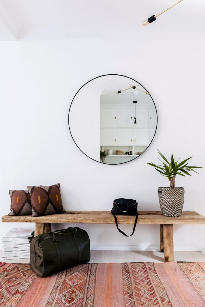LOOK FOR LESS: 3 Designer Inspired Modern Boho Entryways using only Target products. Boho-chic, bohemian decor, modern boho entryway. Image source: Jillian Dinkel.