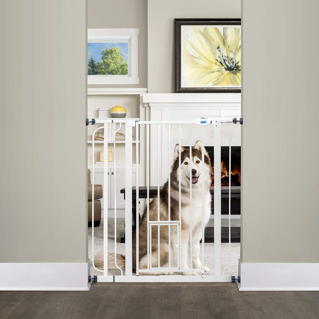 Carlson Extra Tall Walk Through Pet Gate via Amazon