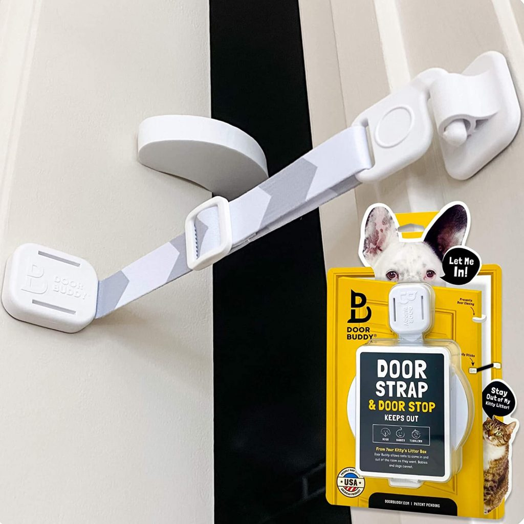 Door Buddy Door Latch Plus Door Stopper via Amazon