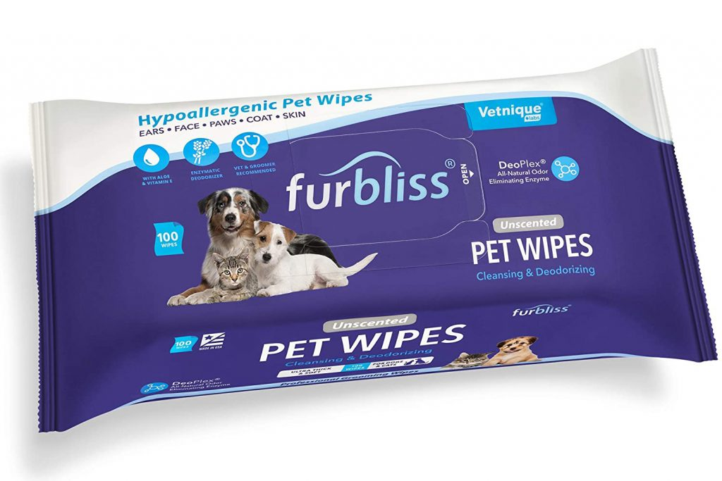 Furbliss Hygienic Pet Wipes for Dogs & Cats via Amazon