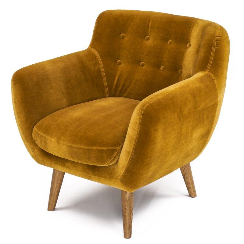 Mustard Accent Chair via All Modern