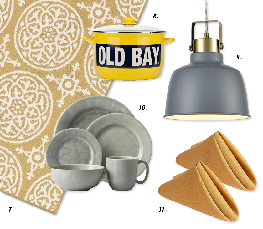Decorating With Mustard Yellow - heydjangles.com - Mustard yellow and gray kitchen color palette  decorating ideas #colorinspiration #mustardaesthetic