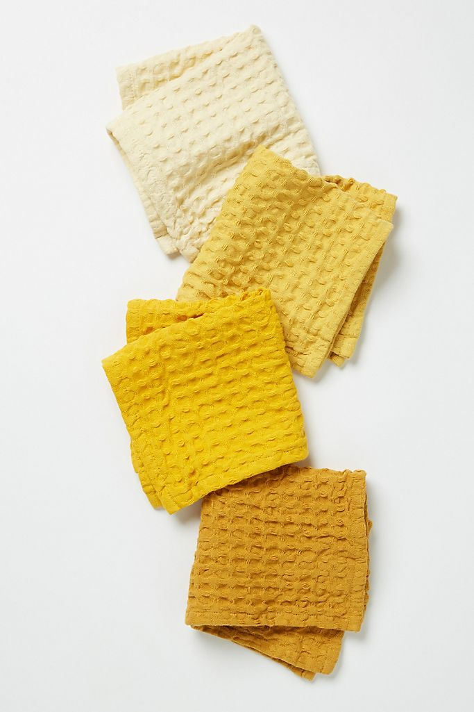 Image via Anthropologie feat. Set of 4 Market Dishcloths in Ochre