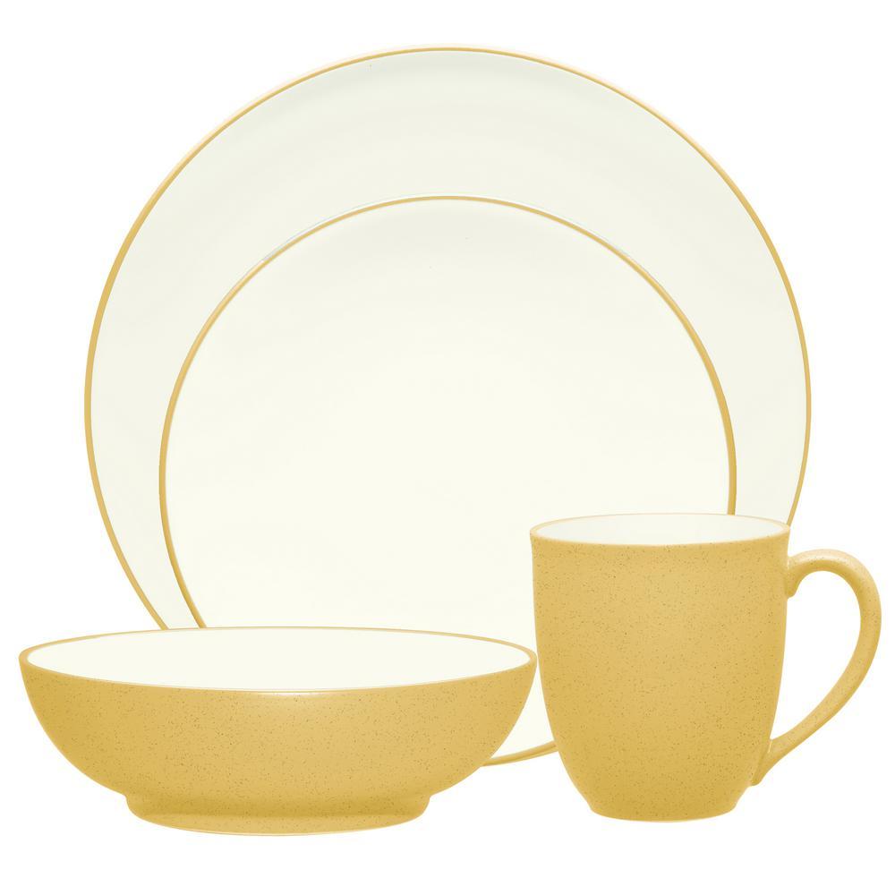 Mustard Yellow Dinnerware via Home Depot