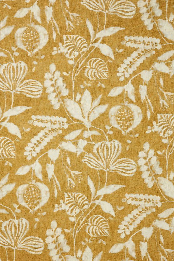 Image via Anthropologie feat. Kauai Botanical Wallpaper in Mustard