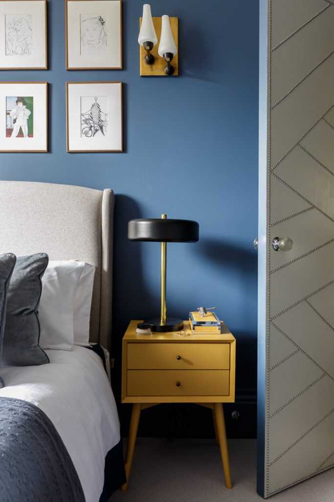 Decorating With Mustard Yellow - heydjangles.com - Mustard yellow and navy bedroom decorating ideas, mustard yellow furniture. Image by Gunter and Co. Interiors #navycolorpalette #bedroomideas