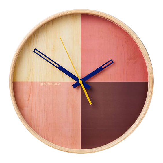 terra clock, terra cotta + blush home decor