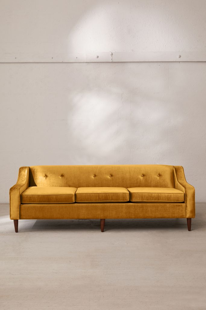 Image via Urban Outfitters feat. Milly Velvet Sofa