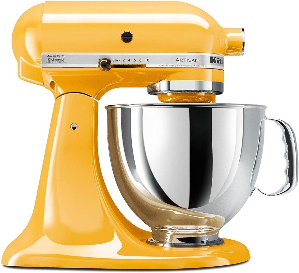 KitchenAid KSM150PSBF Artisan 5-Quart Stand Mixer, Buttercup - via Amazon