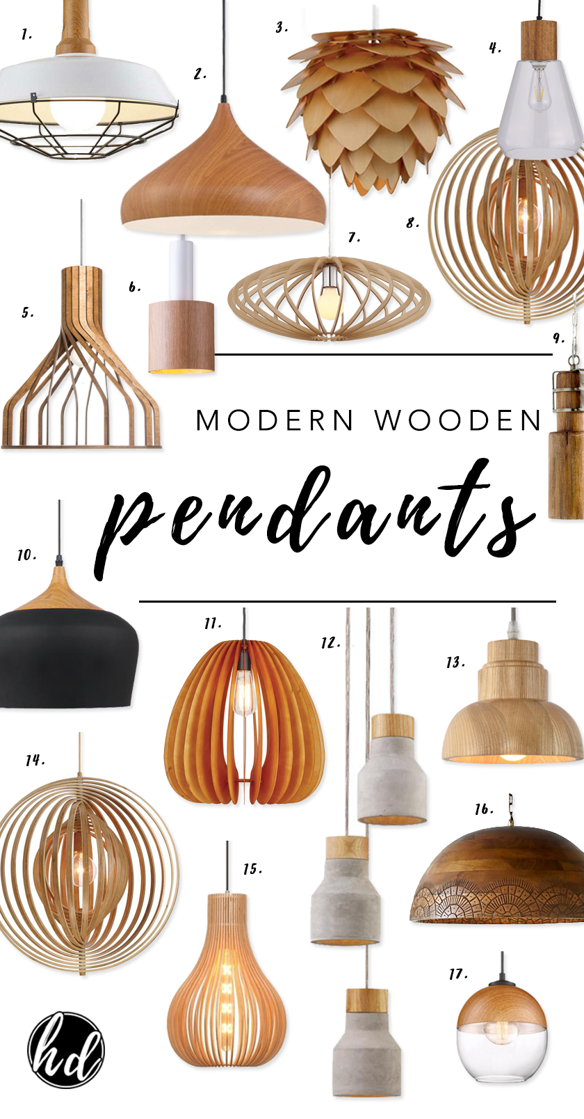 ROUND-UP: Affordable Modern Wooden Pendant Lights - heydjangles.com - A selection of our fave affordable wooden pendants and where to buy them. #pendantlights #statementlighting #homedecor