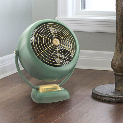 4 EASY WAYS TO ADD MODERN RETRO CHARM TO YOUR HOME - heydjangles.com - 4. With decor! Vornado floor fan, retro fans, retro lights, vintage fan, 50s inspired #retrodecor