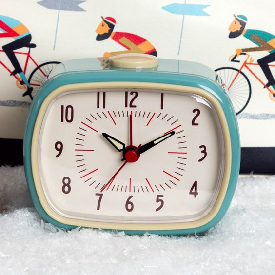 4 EASY WAYS TO ADD MODERN RETRO CHARM TO YOUR HOME - heydjangles.com - 4. With decor! Retro alarm clock, 50s inspired #retrodecor Image via Rex London