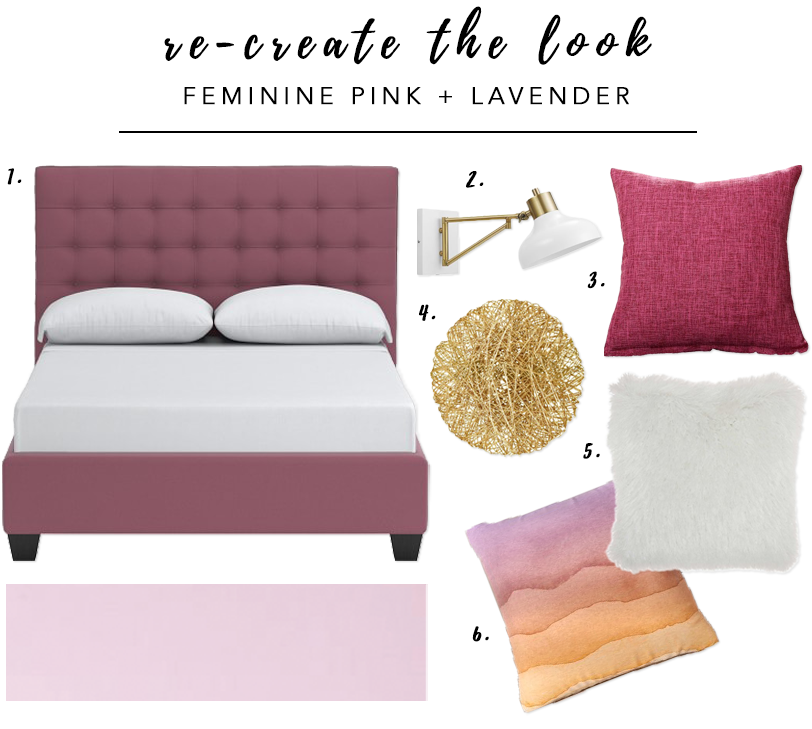 7 Gorgeous Pink Bedrooms That You Can Totally Re-create at Home - heydjangles.com. Feminine pink and lavender bedroom. Pink bedroom decor ideas. Re-create the look. #pinkbedroom #decoratingideas