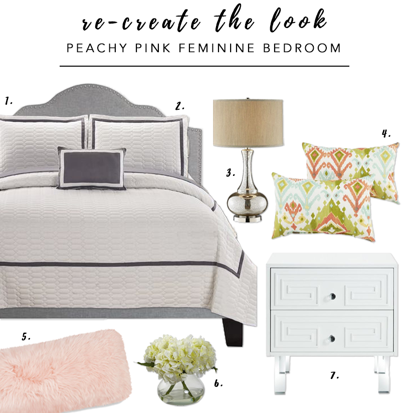 7 Gorgeous Pink Bedrooms That You Can Totally Re-create at Home - heydjangles.com. Peachy pink and feminine bedroom. Modern farmhouse pink bedroom decor ideas. Pink  bedroom. Re-create the look. #pinkbedroom