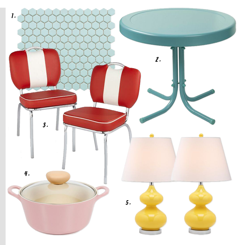4 EASY WAYS TO ADD MODERN RETRO CHARM TO YOUR HOME - heydjangles.com - 1. With color! Retro kitchen, retro decor, pastels, 50s inspired #retrovibes #50sstyle #retrodecor