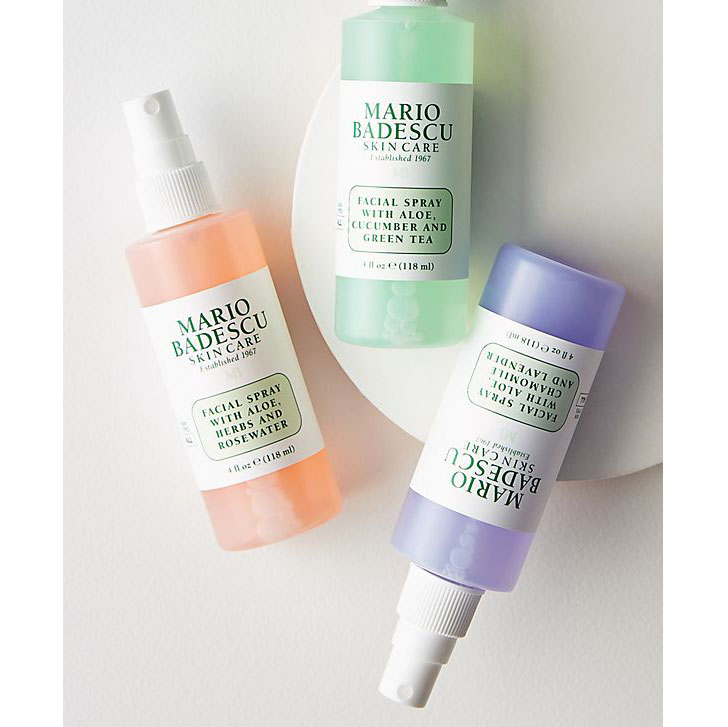 Eco-friendly Mother's Day Gift Ideas, Mario Badescu Spritz. Mist. Glow. Set