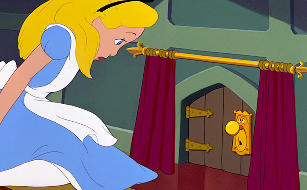 Alice in Wonderland, talking door knob