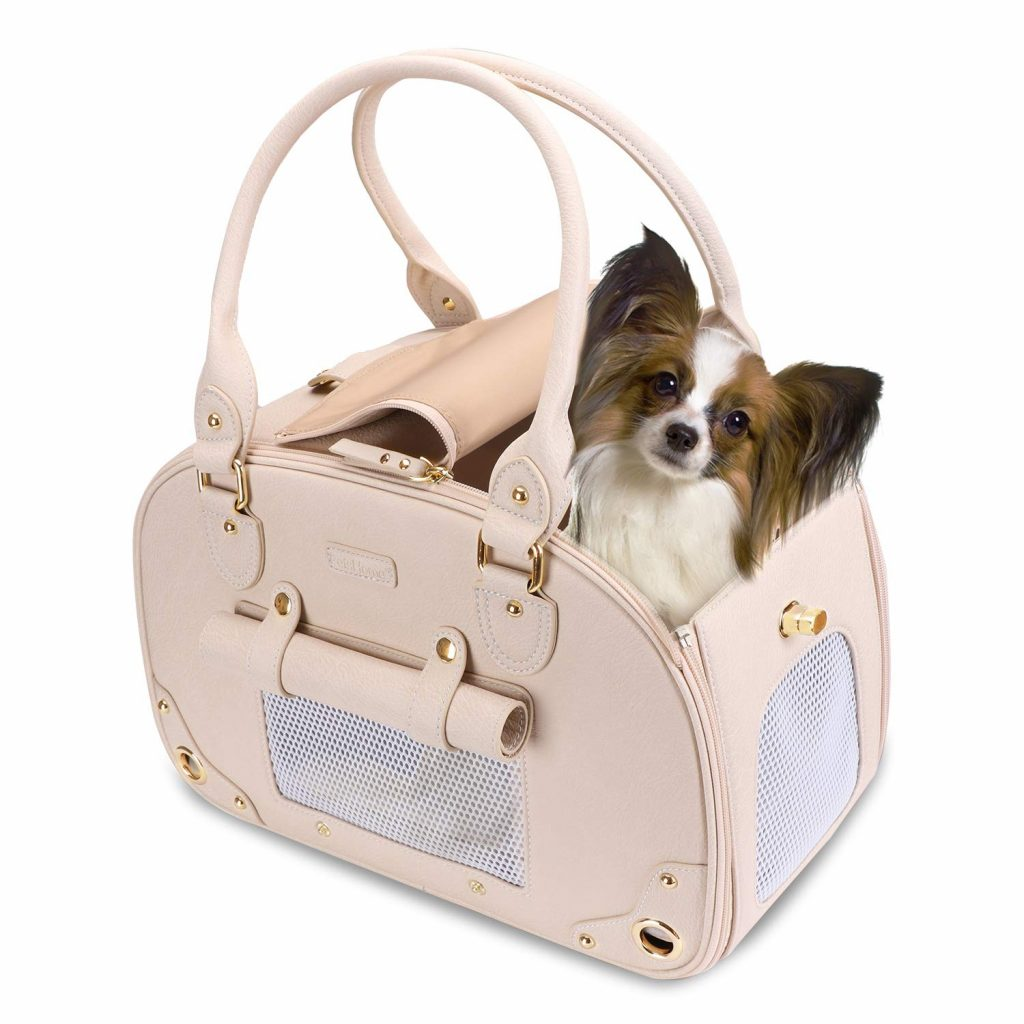 Stylish Dog Carriers that Look Like Purses - Beige Pet Carrier