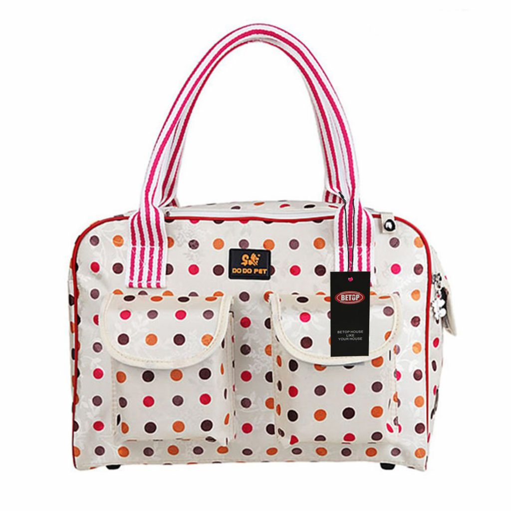 polka dot dog carrier travel bag