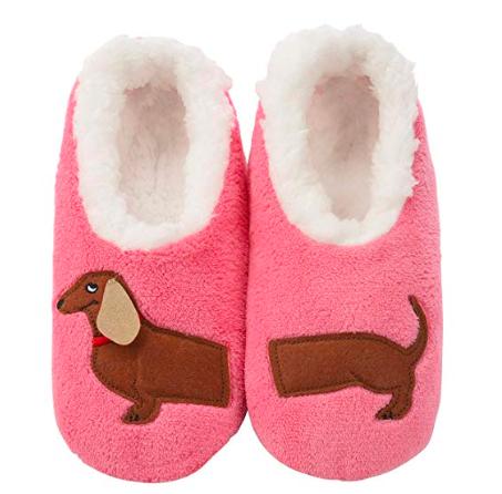 dachshund bathroom decor, pink dachshund slipper socks