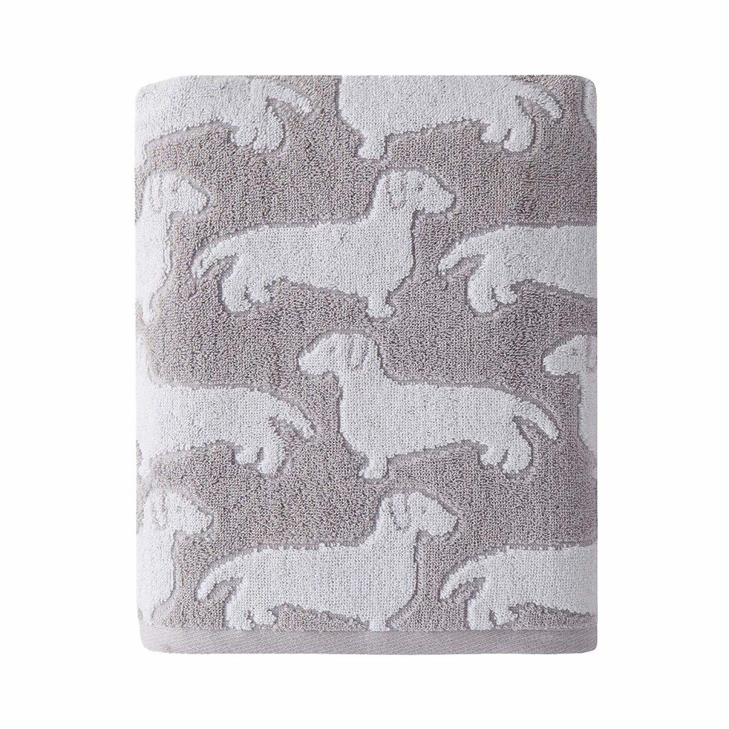 dachshund bathroom decor, dachshund bath towel