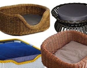 ROUND-UP: 18 Rattan and Wicker Dog Beds and Baskets You'll Love – heydjangles.com, stylish luxury dog beds, best wicker dog bed baskets, rattan dog bed, wicker pet bed, cane dog bed, dog pet products #doglover