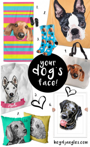 FOR FUN: Print Your Pet on Socks and Much More! – heydjangles.com – custom dog socks, custom dog blanket, custom pet portraits, personalized pet products #doglover #dogsocks