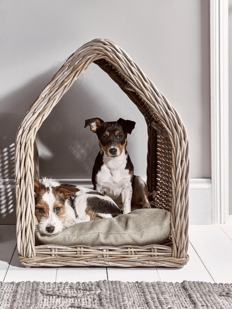 ROUND-UP: 25+ Rattan and Wicker Dog Beds and Baskets You'll Love feat. 11. // Rattan Pet House Cox & Cox