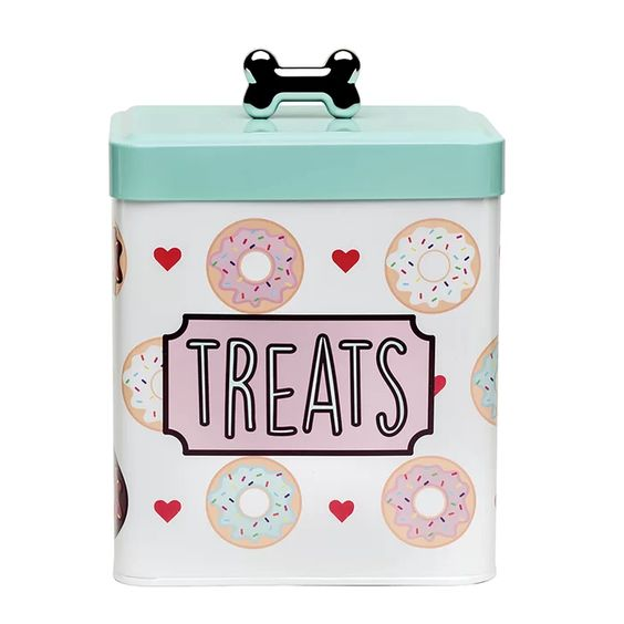 12 Gorgeous Gifts for New Puppy Parents, dog treat canister, treat tin