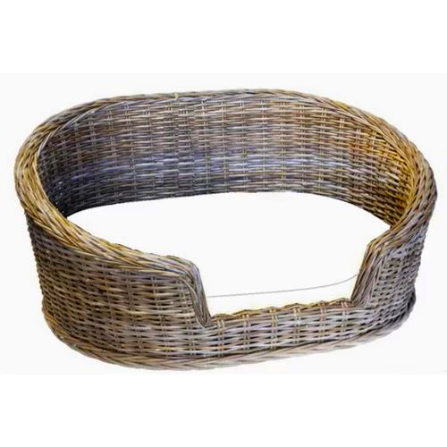 luxury oval wicker pet bed, wicker dog beds and baskets