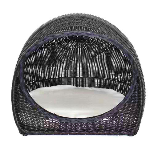 igloo rattan pet bed, wicker dog beds and baskets