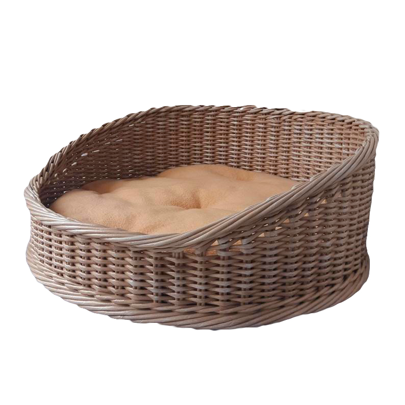 oval wicker pet bed, wicker dog beds and baskets