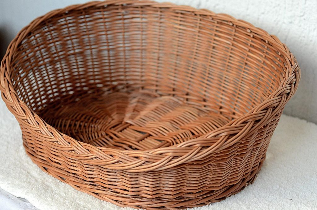 Wicker Oval Dog Bed from Willow Souvenir (Etsy)