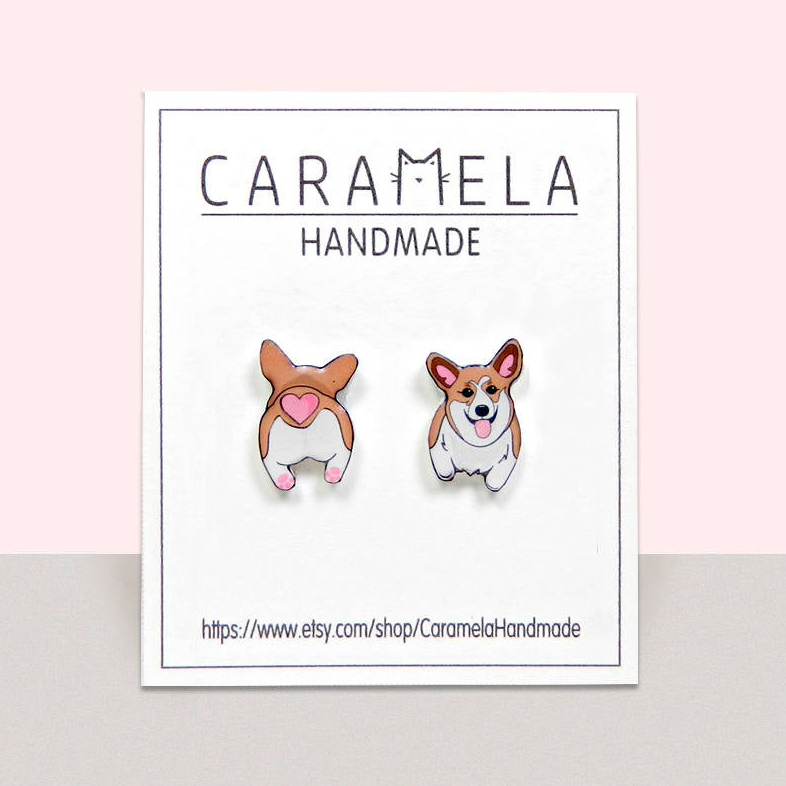 60 Gifts for Corgi Lovers, Corgi Earrings