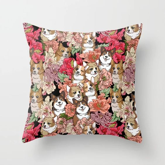 60 Gifts for Corgi Lovers, Corgi Decor Pillow