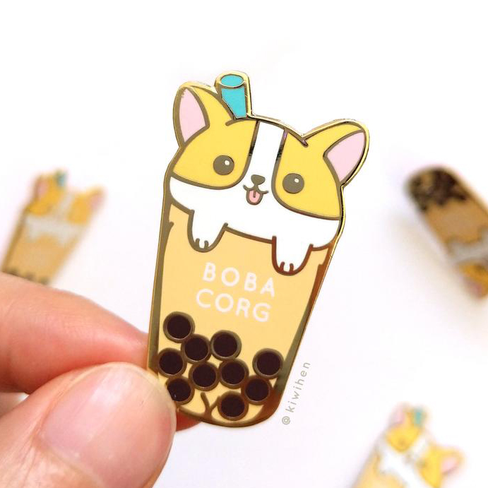 60 Gifts for Corgi Lovers, Corgi Enamel Pin