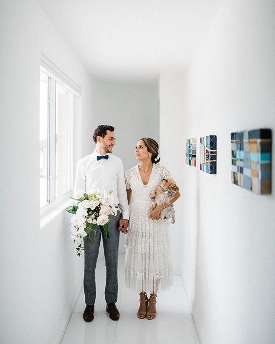 How to Include your Dogs in your Wedding Photos (30+ Sweet Pics) – heydjangles.com, doggy wedding attire, dogs in wedding photos, Yorkshire Terrier #doglover #dogsatweddings #weddingdog