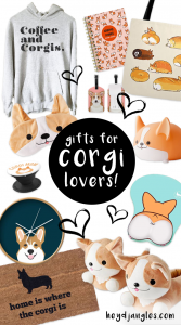 60 Super Cute Gifts for Corgi Lovers – heydjangles.com – Corgi gift ideas, Corgi stuff, Corgi accessories, Corgi Décor, Corgi apparel, Corgi stationery, Corgi stickers, Corgi sweatshirt, Corgi things #corgigifts # #corgilover #doggifts