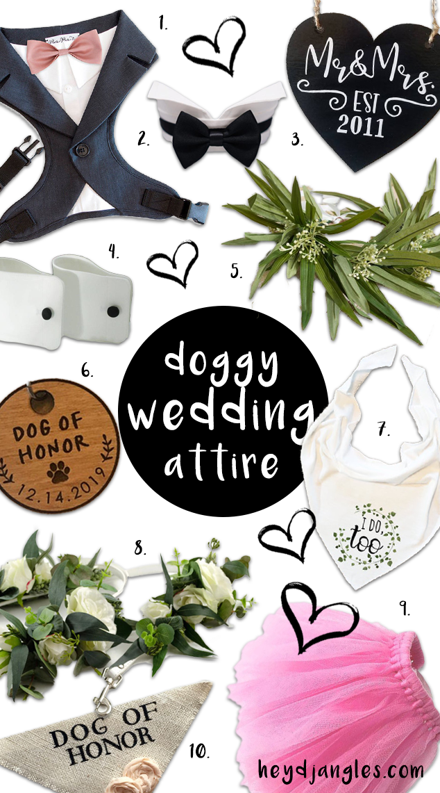 doggy wedding attire, dogs in wedding photos