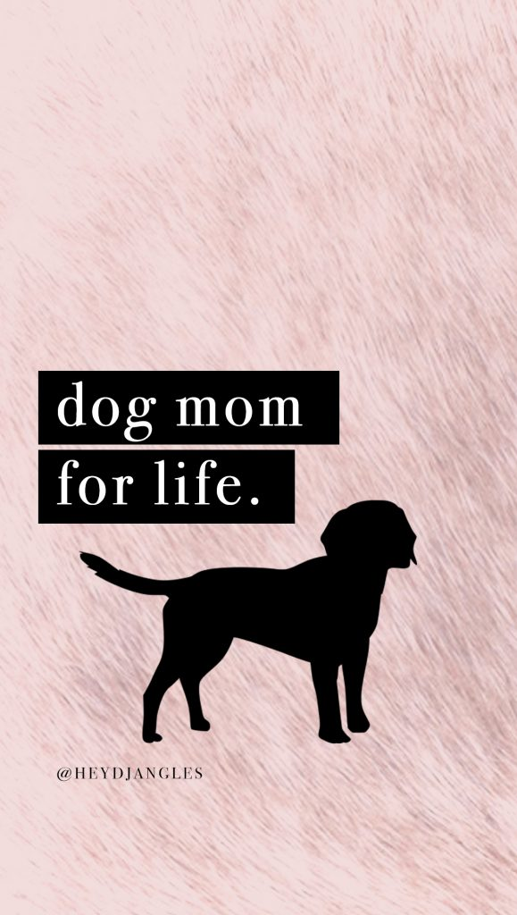 cute dog quote wallpaper for iphone or android, dog mom for life