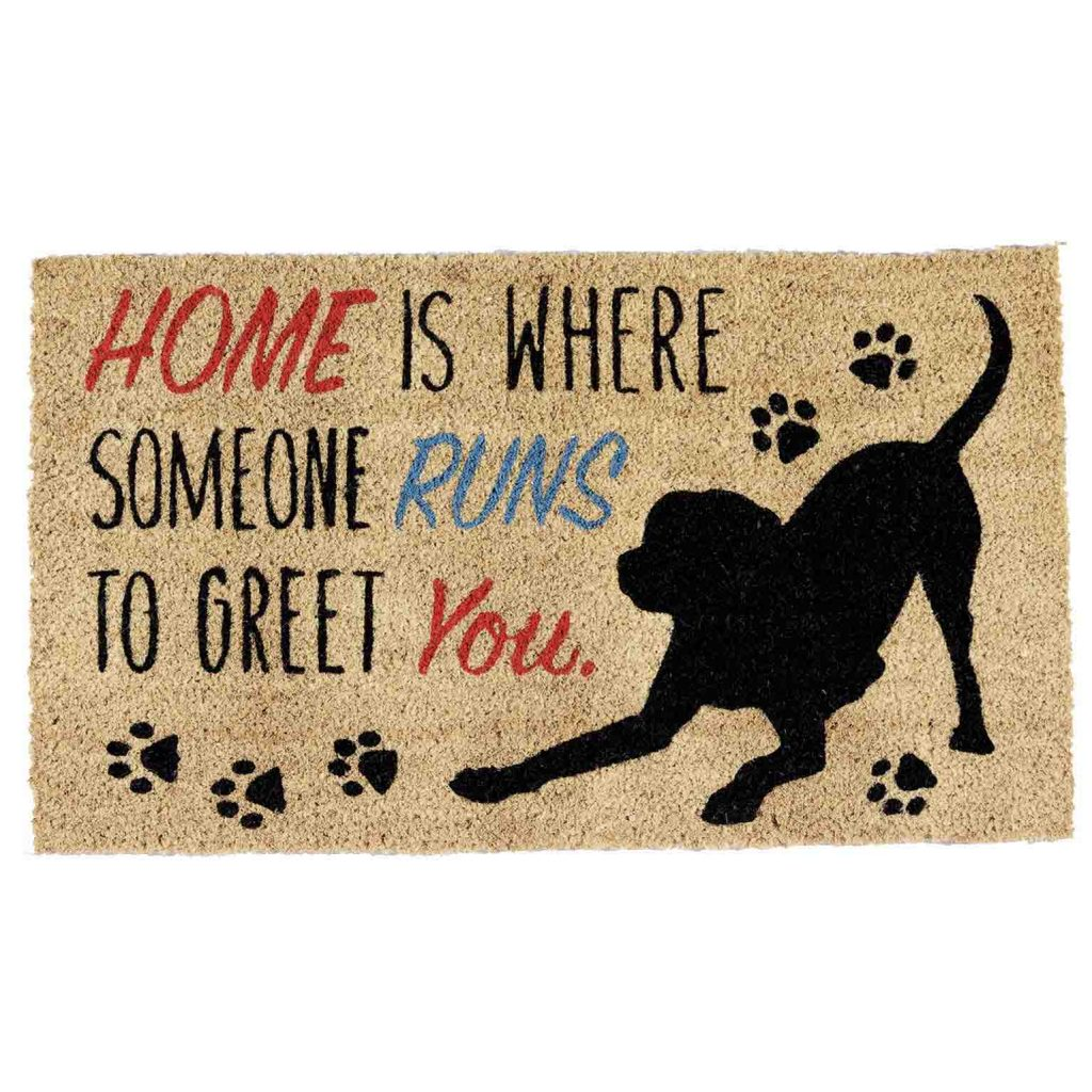 15 UNDER $50: Cute Dog Themed Doormats – Home is where someone runs to greet you.