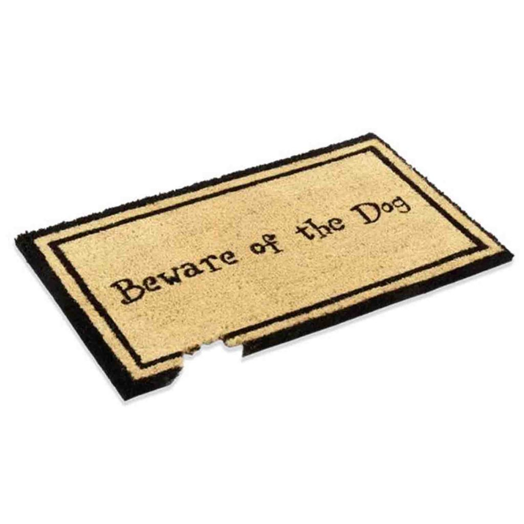 15 UNDER $50: Cute Dog Themed Doormats – Beware of the dog.