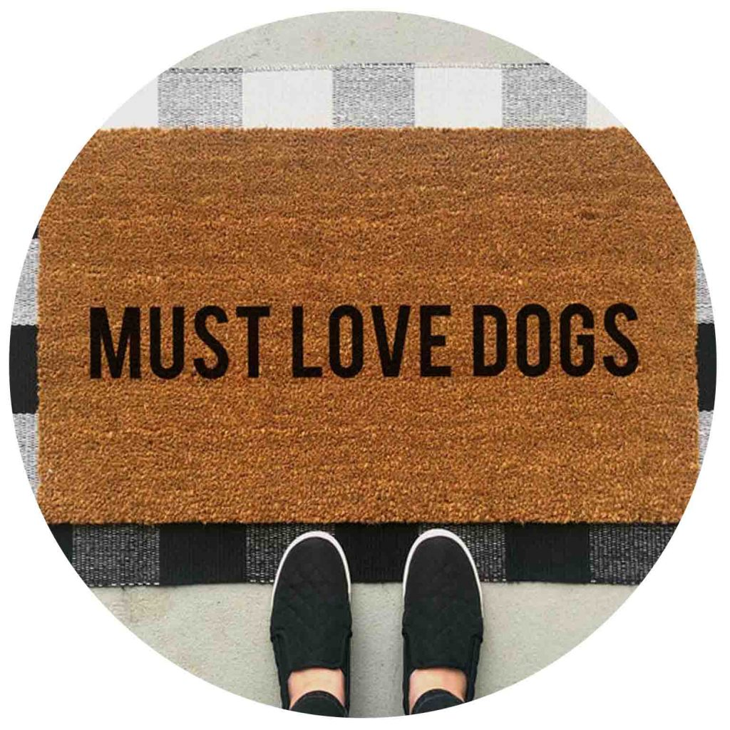 15 UNDER $50: Cute Dog Themed Doormats – Must love dogs.