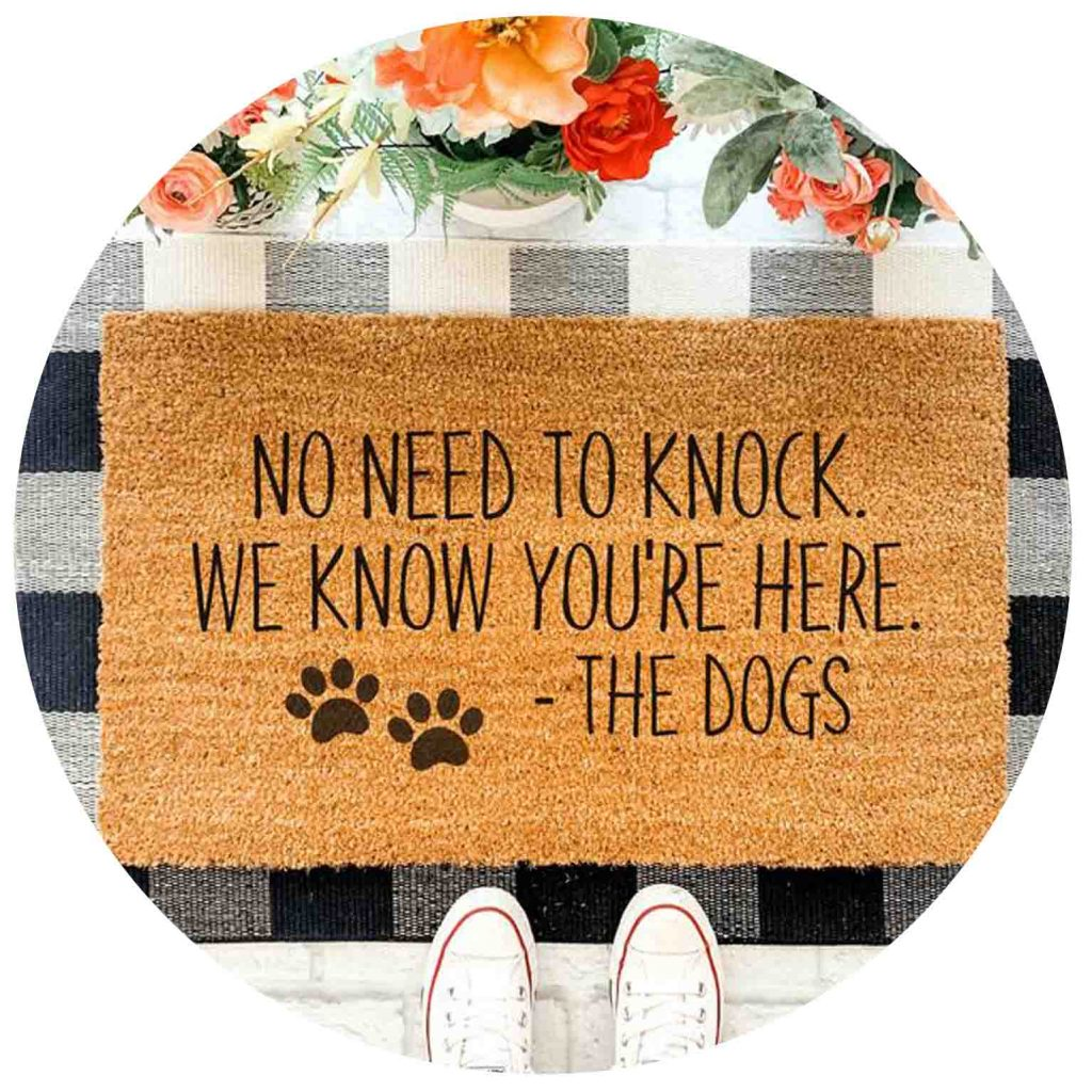 15 UNDER $50: Cute Dog Themed Doormats – No need to knock we know your'e here.