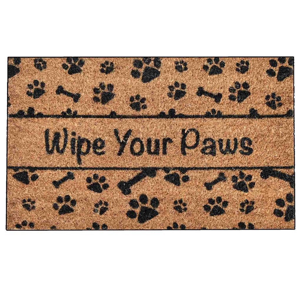 15 UNDER $50: Cute Dog Themed Doormats – Wipe your paws.