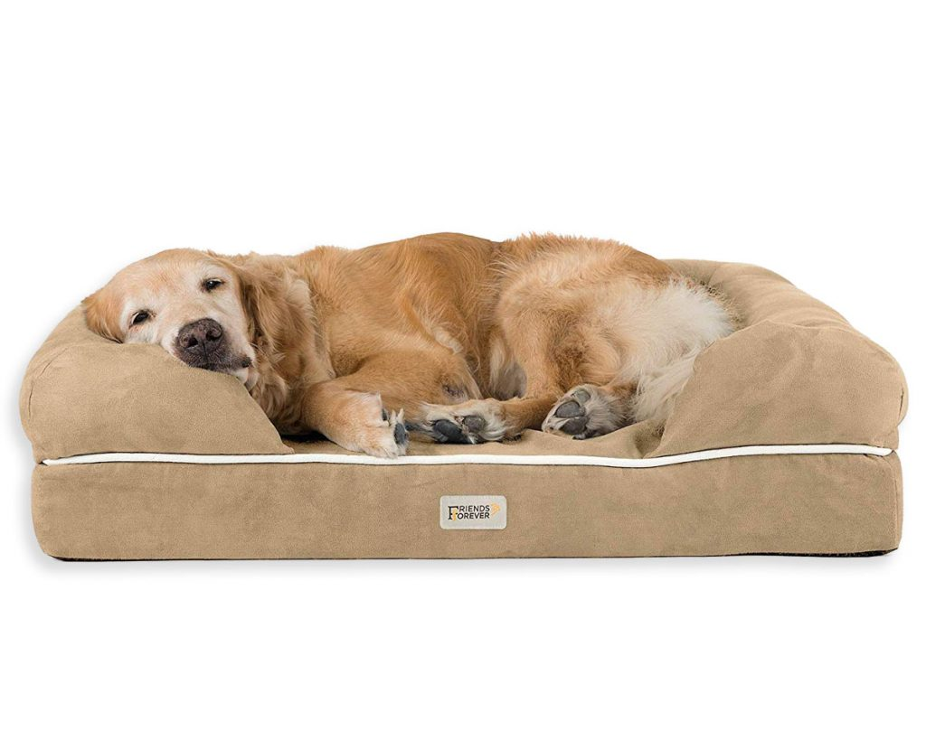 Best Orthopedic Dog Beds for Arthritis - heydjangles.com - memory foam dog bed, senior dog, Golden Retriever.