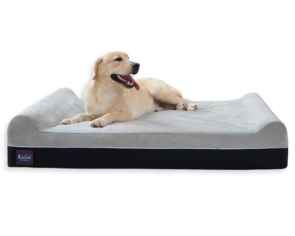 Best Orthopedic Dog Beds for Arthritis - heydjangles.com - memory foam dog bed, Golden Retriever.