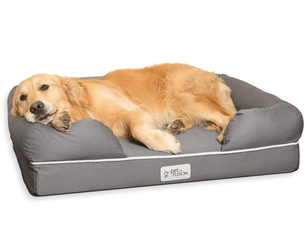 Best Orthopedic Dog Beds for Arthritis - heydjangles.com - memory foam dog bed., Golden Retriver.