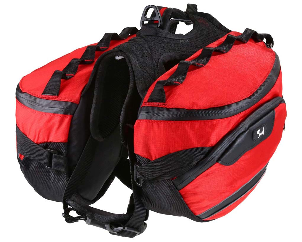 8 Best Saddlebags for Dogs: Backpacks for Adventurous Canines! – heydjangles.com – best dog saddle bags, dog backpacks with saddle bags, tactical dog backpacks, dogs that hike, Pettom dog pack.